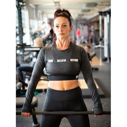 ICON Athletic Long Sleeve Crop T