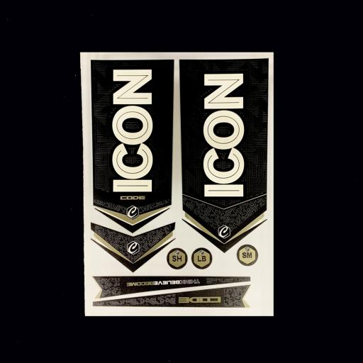 ICON Code Bat Sticker Set