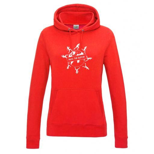 Pass The Baton women's college hoodie