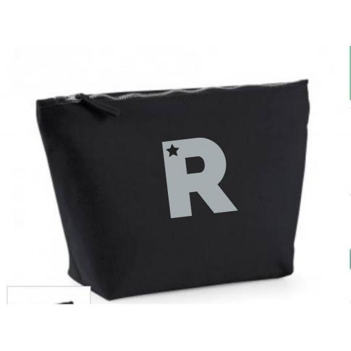 Make Up Bag - Black with Letter