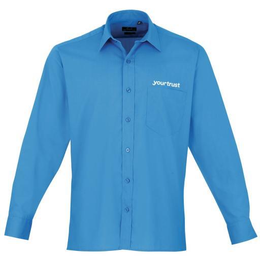 yourtrust Long Sleeve Poplin Shirt - Male