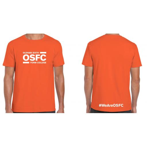Oldham Sixth Form College T-Shirt - Design 1 with White Print